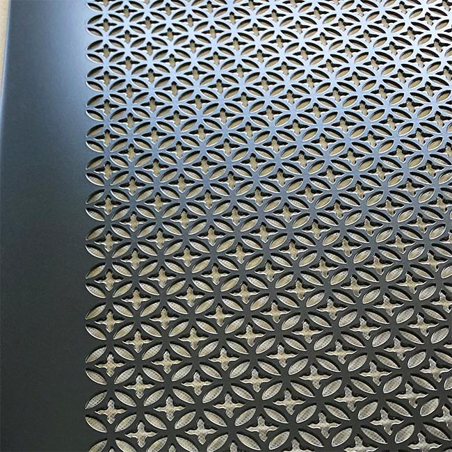 パンチングメタルの機能にデザイン性をプラスした内外装パネル(デザインパンチング No. 5010)