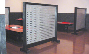クロスパンチング パーテーションの事例画像