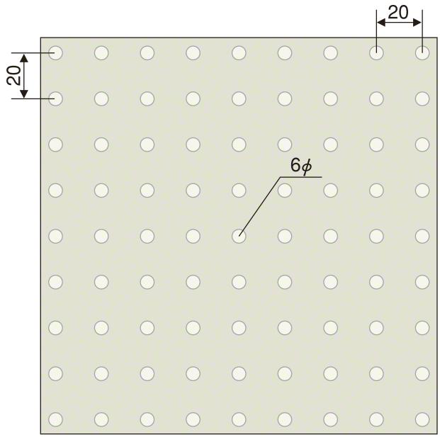 デザインエンボス(半球 パターン図)