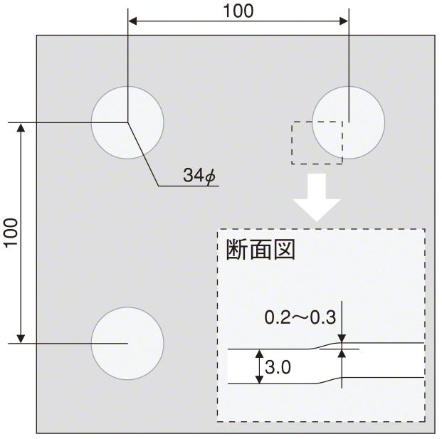 デザインエンボス(丸 パターン図)