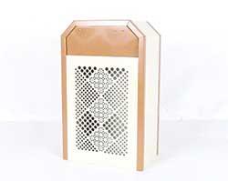 パンチングメタルのゴミ箱