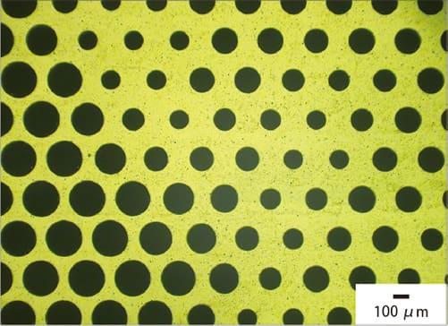 材質:ポリイミド 孔径:110 ~ 210 μm(11段階) 厚さ:12.5 μm