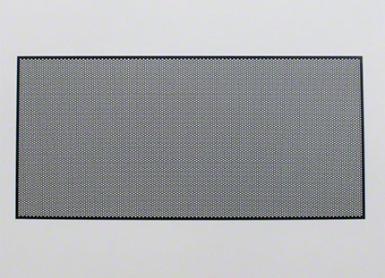 樹脂パンチング加工例(樹脂フィルムへの小径孔での挟ピッチ加工)