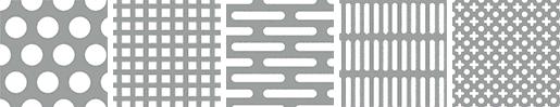 パンチングメタルの孔の形